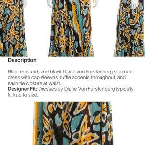 Diane Von Furstenberg Dresses - Diane Von Furstenberg Silk Summer Maxi Dress